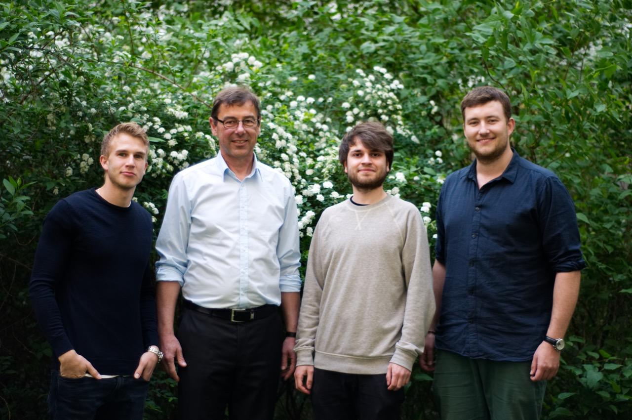 Die Gründer der WeWater gUG (v.l.n.r.: Hannes Schwessinger, Ulrich Weise, Thilo Kunz, Steven Hille)